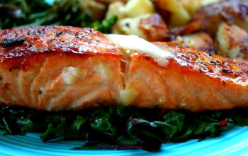 Tequila Grilled Salmon with Raspberry Sauce