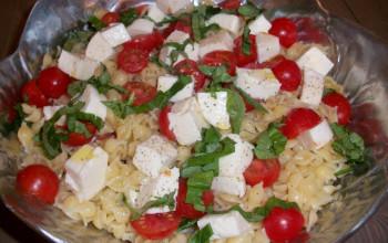 Tomato, Avocado, and Mozzarella Pasta Salad