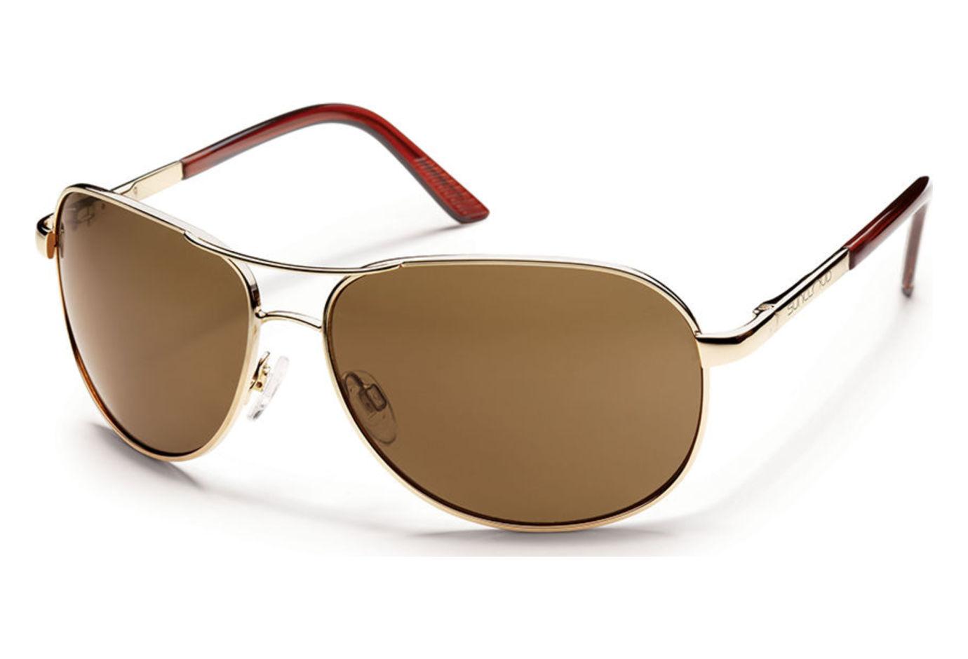 Gold Frame Aviator Sunglasses : Suncloud Aviator Sunglasses Gold Frames, Brown Lens