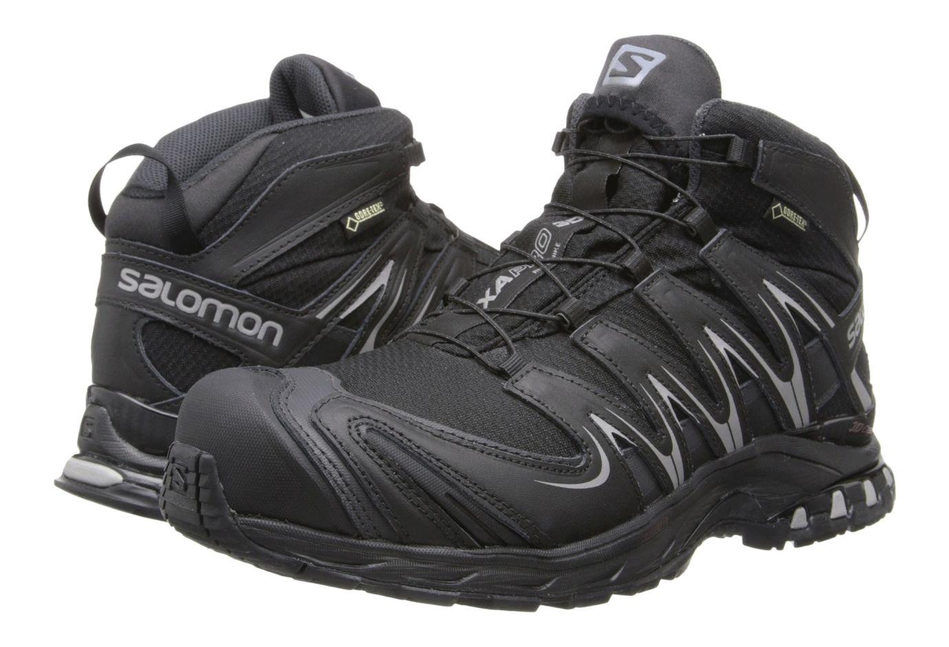 Salomon Mens XA PRO MID GTX Black Asphalt Pewter 115