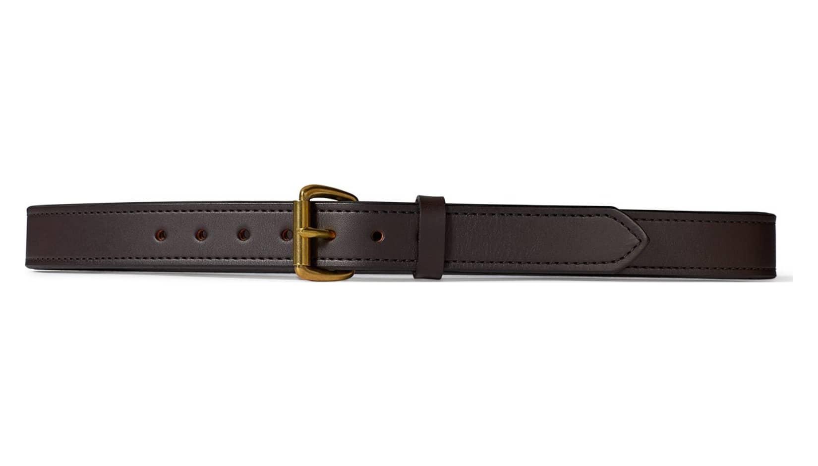 filson 63205 1 1 4 inch leather belt brown w brass