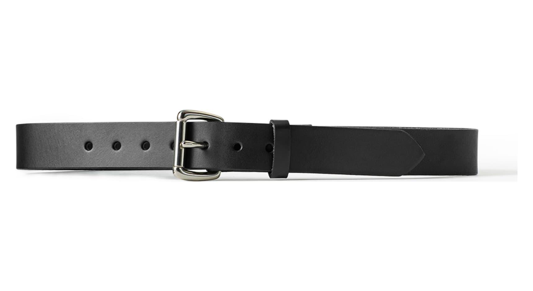 filson 63203 1 1 4 inch leather belt black 40