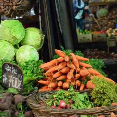market fresh produce in Santiago Chile