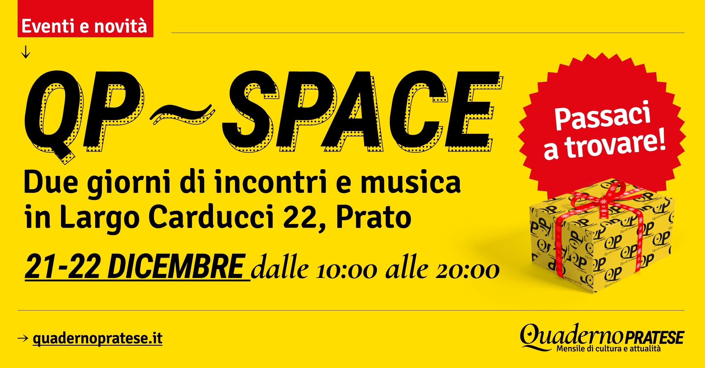 QP SPACE: due giorni di incontri, musica e festeggiamenti