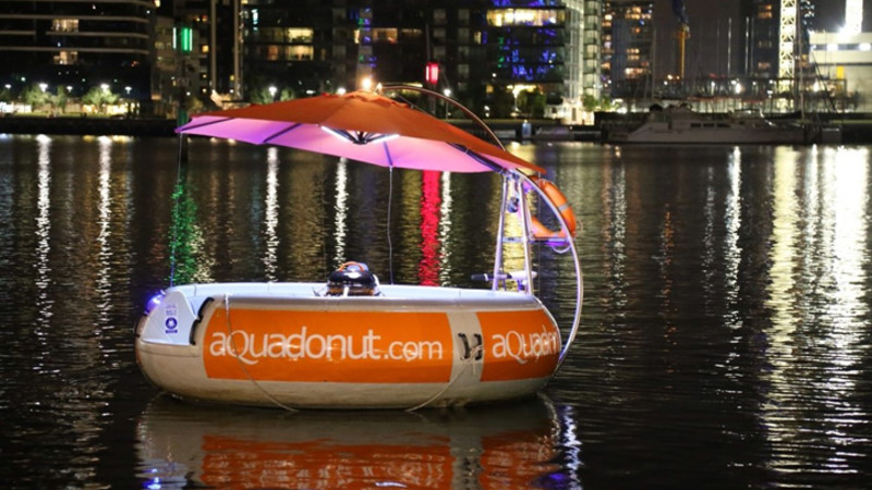 Aqua Donut Floating Bbq Rental 2 Hours