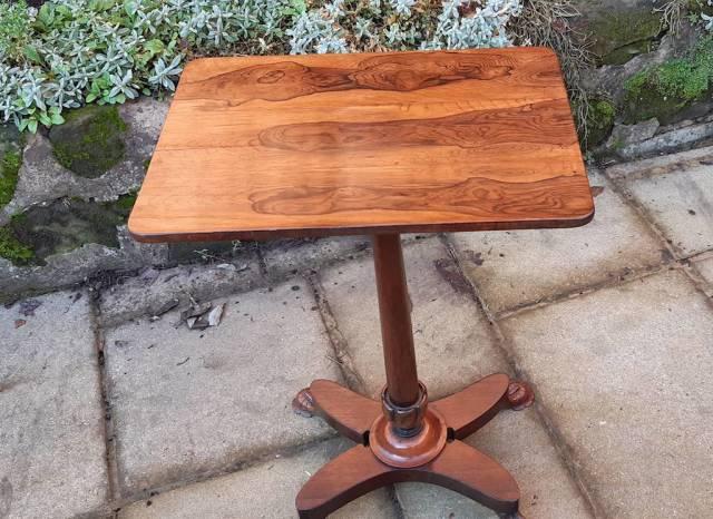Late Regency rosewood lamp table