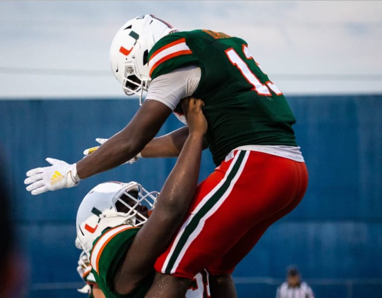 canesport - miami hurricanes hold 1st fall scrimmage, qbs