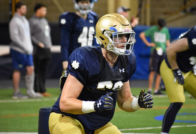Junior tight end Brock Wright is projected to see his role expand in year three with classmate Cole Met.
