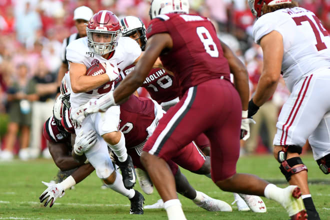 Alabama receiver Slade Bolden could continue to serve in many roles for the Crimson Tide. Photo | Getty Images