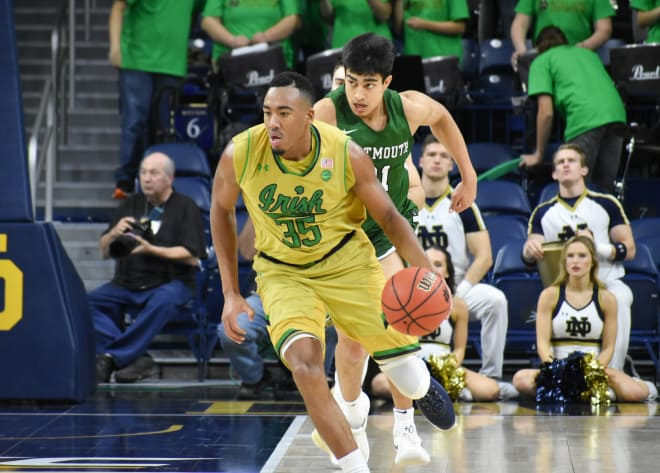Bonzie Colson Scores 37 To Lead Irish Past Dartmouth 97-87
