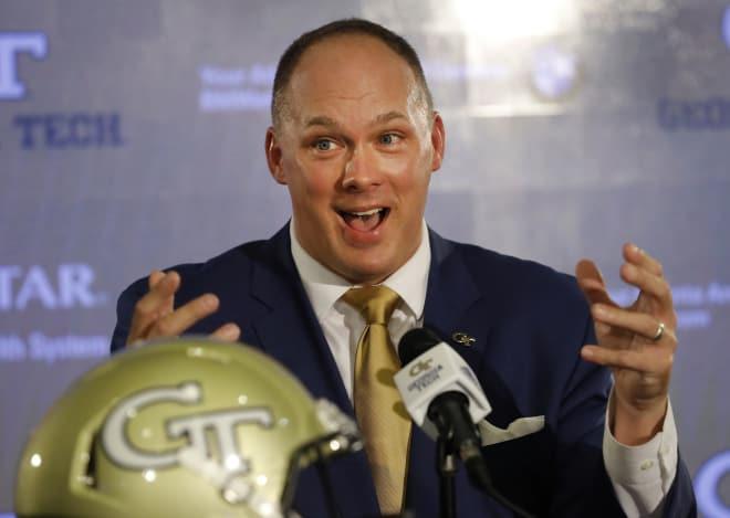 Georgia Tech coach Geoff Collins