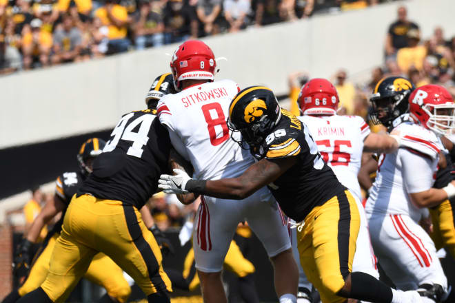 The Iowa defense pitched a shutout against Rutgers.