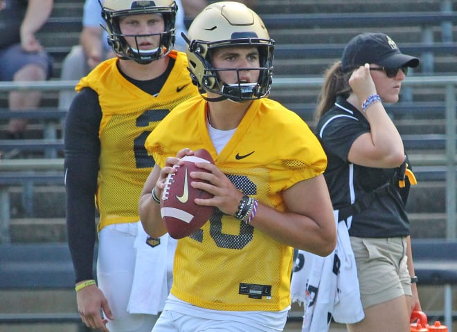 Aidan O'Connell is Purdue's No. 3 quarterback just two seasons after joining the program as an invited walk-on.