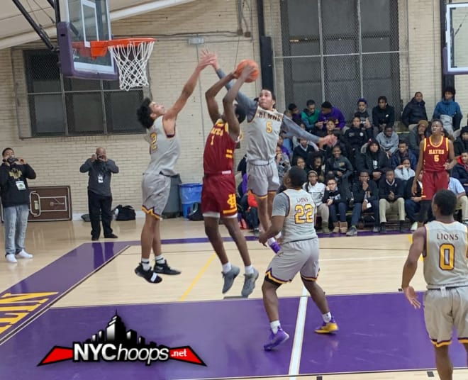 "6'9"" Adam Cisse goes up on the 6'7"" Champagnie Twins"