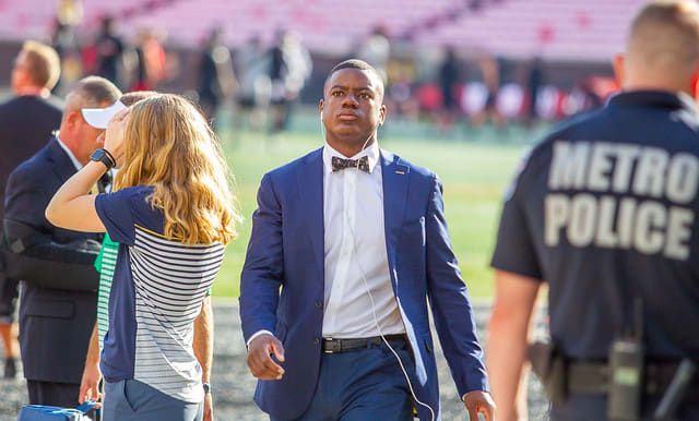 Jafar Armstrong heads to locker room prior to the Louisville game this past Monday.