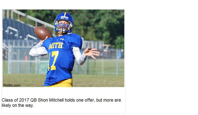 Rivals com - Sophomore QB Mitchell one to watch