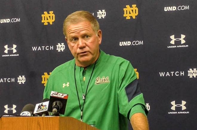 Kelly said he is committed to staying at Notre Dame despite this year's 4-8 finish.