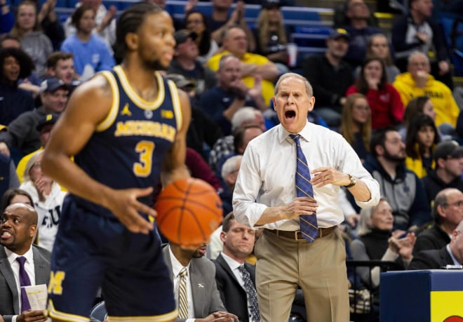 Beilein Ejected Going Into Halftime At Penn State