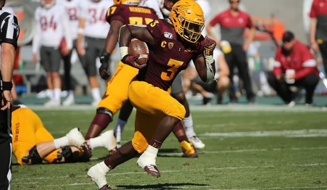 Shaking off a slow start RB Eno Benjamin rushed for 137 yards on 19 carries, scoring three times