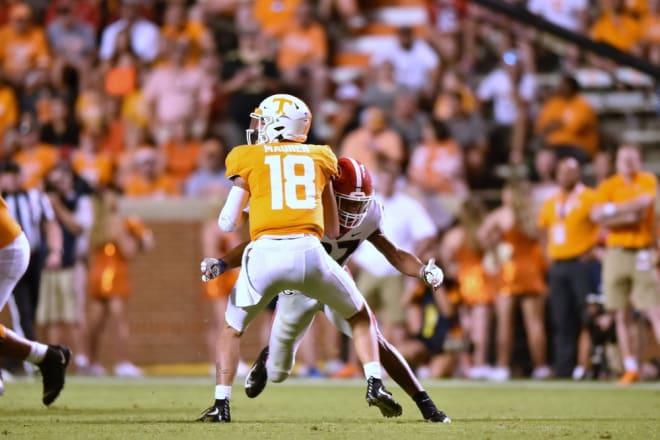 Georgia hopes to get similar pressure against South Carolina quarterback Ryan Hilinski.