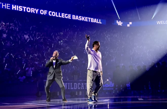 John Calipari, entering his 11th season at Kentucky, was introduced to the crowd by MMA announcer Bruce Buffer.