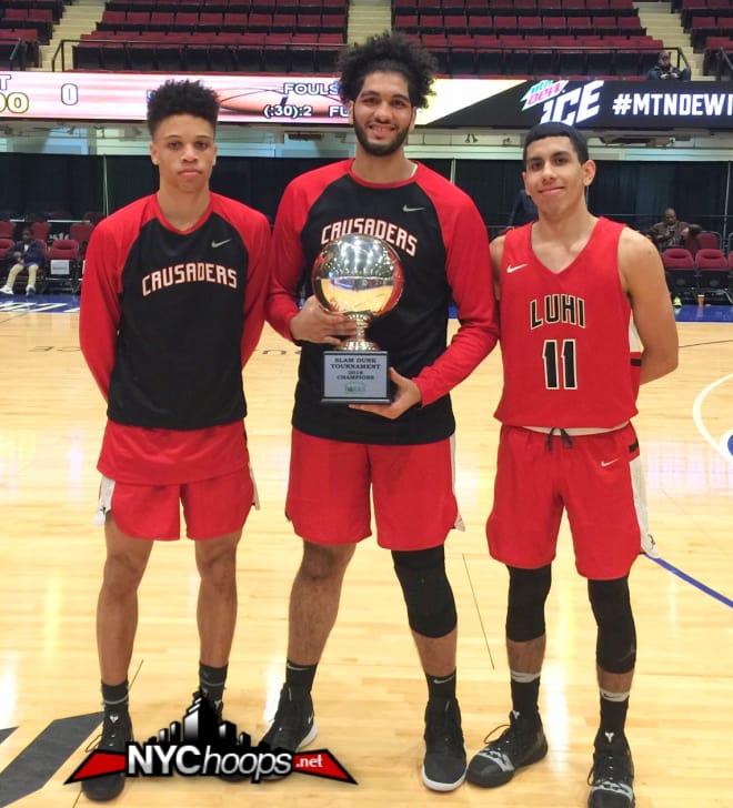Stephenson-Moore, MVP Essam Mostafa & Andre Curbelo