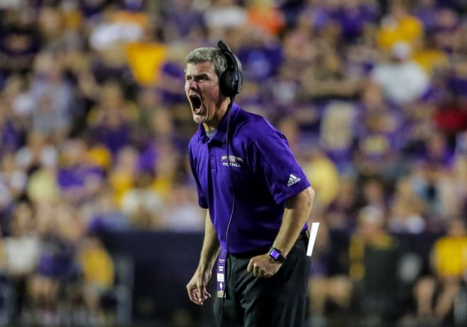 Northwestern (La.) State coach Brad Laird, a very famous former Ruston Bearcat, displays his magnificence during the Demons' narrow loss to LSU last weekend. I went to school with Laird's sister, Kim. She was madly in love with me. She just wasn't aware of those feelings.
