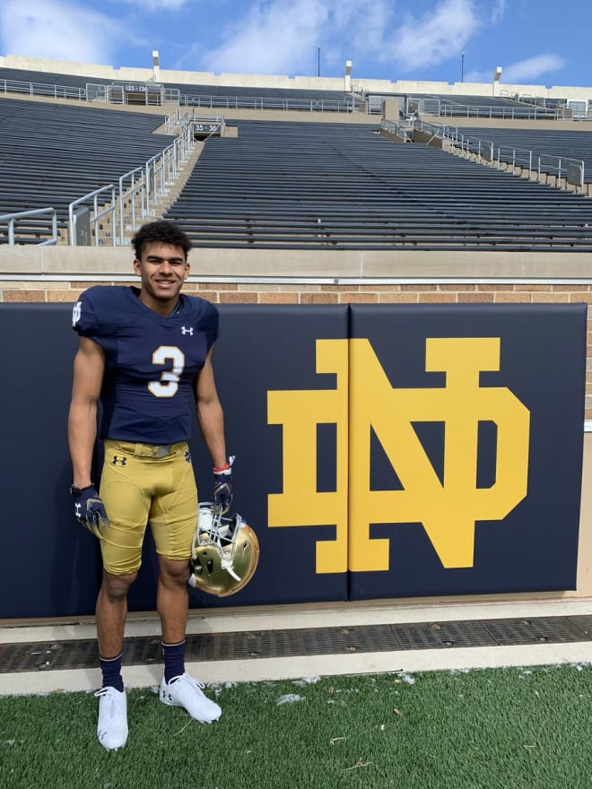 2020 WR Marcus Libman loved his visit to Notre Dame Tuesday