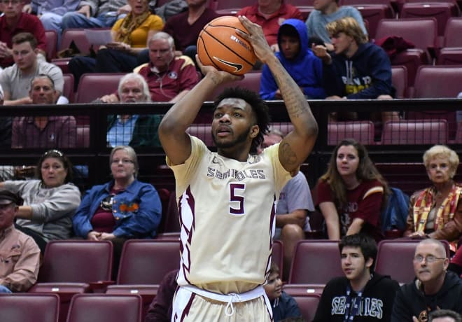 FSU guard P.J. Savoy hit five 3-pointers in the Seminoles' 98-45 win over Southern Miss.