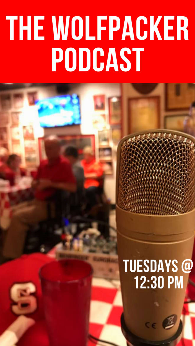 The Wolfpacker podcast is recorded most Tuesdays at Amedeo's around 12:30.