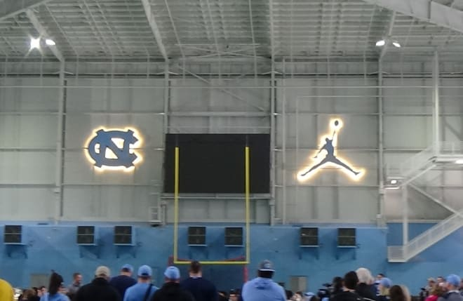 The Heels will spend a lot of mornings this fall in the new indoor facility.
