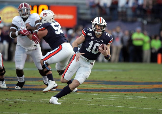 Nix (10) has proven to be an effective weapon running the football in Auburn's offense.