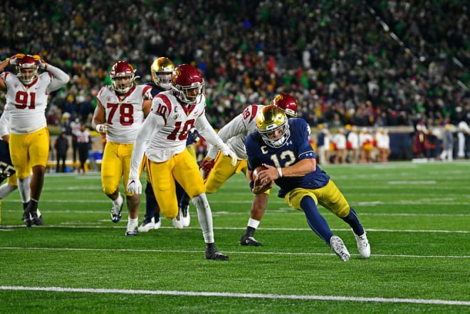 Quarterback Ian Book and No. 8 Notre Dame continue the quest to up their status as a top-10 operation.
