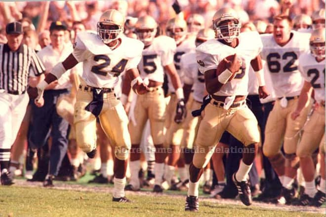 Tony Rice's 65-yard touchdown run 30 years ago at USC helped set a course toward the most recent national title.