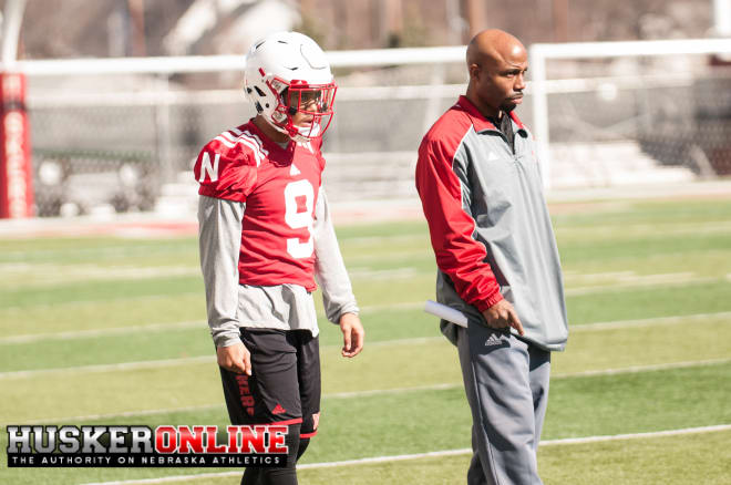 Wide receiver Keyan Williams and coach Keith Williams