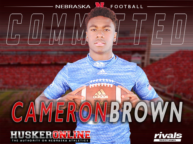 Nebraska regained the commitment of wide receiver Cameron Brown on Monday.