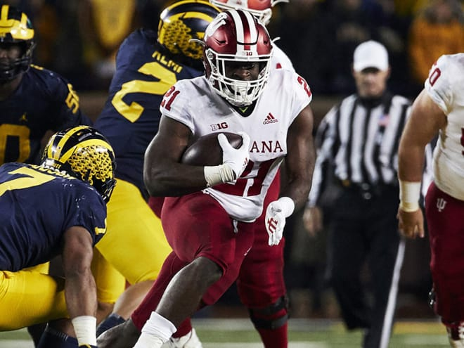Running back Stevie Scott set multiple Indiana records last year as a true freshman, and he'll carry an even bigger workload in 2018.
