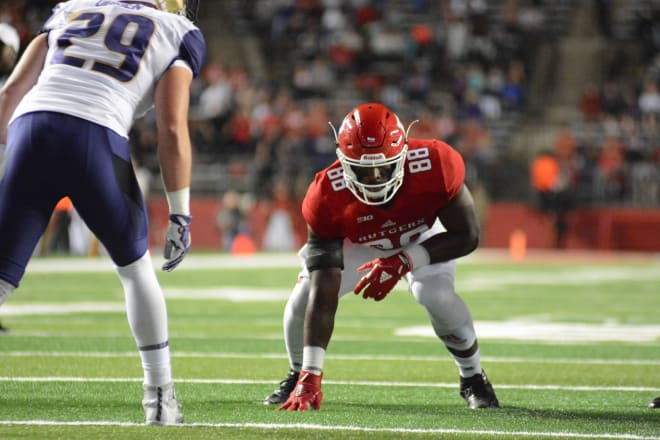 Rutgers' Jerome Washington might be one of the best tight ends Nebraska faces all season.