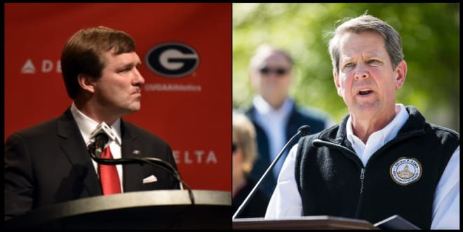 Kirby Smart has been in conversations with Georgia Governor Brian Kemp.
