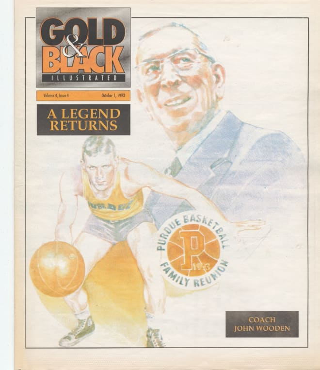 John Wooden returned to West Lafayette for a banquet put on by Gold and Black Illustrated in early October 1993.