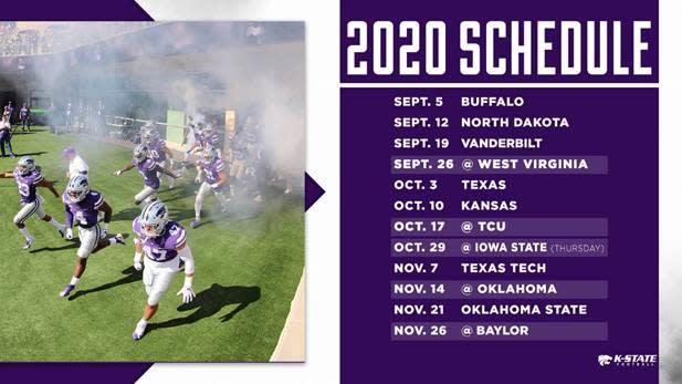 Kansas State Wildcats Football Schedule