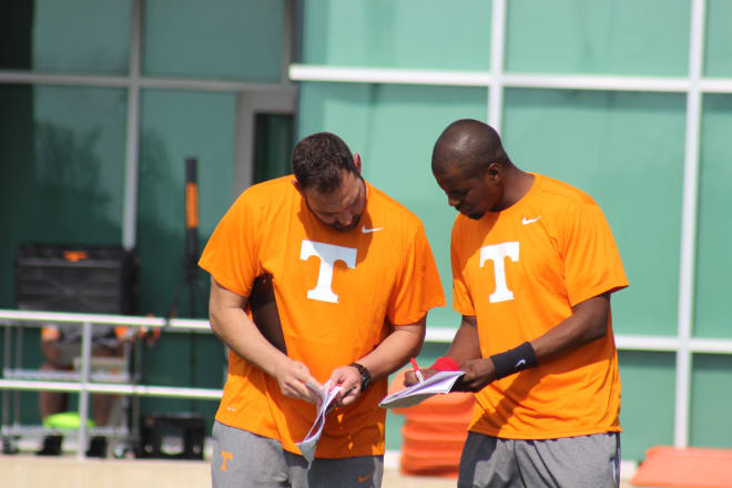Kevin Beard and Tony Sorrentio go over wide receiver script