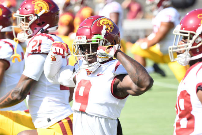 Redshirt sophomore Greg Johnson looks to settled in after sliding over from cornerback to nickel in recent weeks