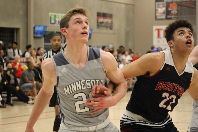 Four-star forward Ben Carlson officially visited Purdue as a junior during the winter.