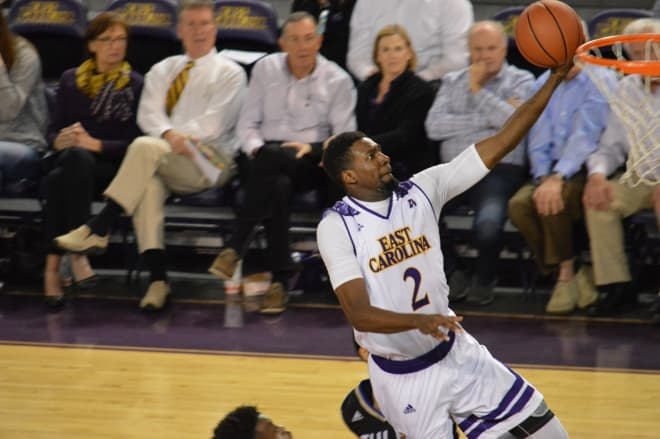 Caleb White and East Carolina suffer their twelfth loss of the season Saturday at FedEx Forum.