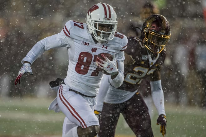 Quintez Cephus declared for the NFL Draft after a junior season in which he led Wisconsin in every receiving category