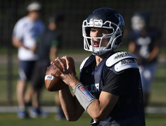 2019 Highlands Ranch (Colo.) Valor Christian quarterback Luke McCaffrey committed to Nebraska on Monday.