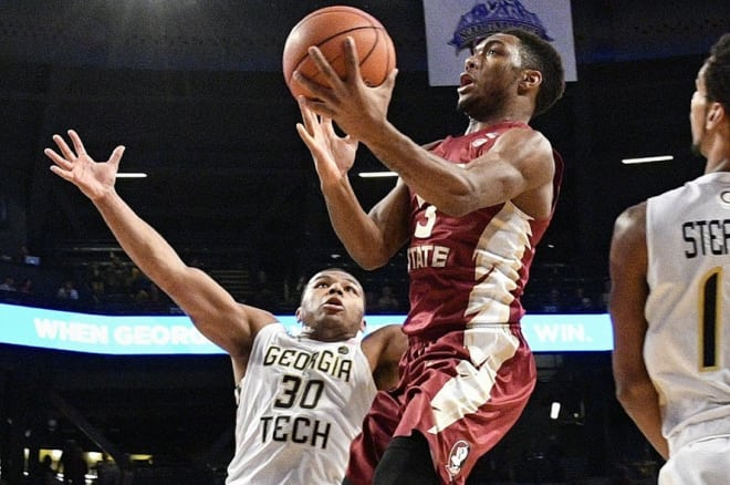 Florida State freshman guard Trent Forrest was one of the few bright spots in his team's loss to Notre Dame on Saturday.