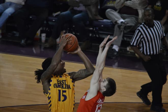 Kentrell Barkley and East Carolina fall in the road AAC finale 73-51 at Hofheinz Pavilion on Sunday.
