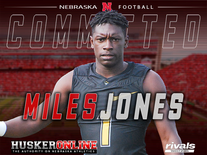 Nebraska plans to use four-star athlete Miles Jones as both a running back and wide receiver in its offense.